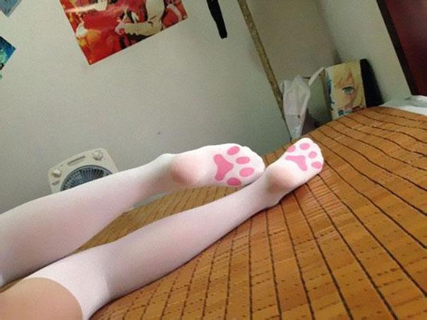 Kitten Paw Socks